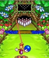 Rayman Bowling J2ME The red laser is used to determine the direction.