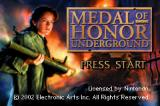 Medal of Honor: Underground Game Boy Advance Title screen.