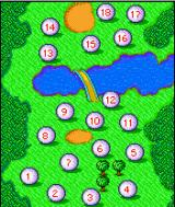 Rayman Golf J2ME Course selection screen
