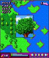 Rayman Golf J2ME Whoops, I hit a tree.