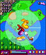 Rayman Golf J2ME Rayman prepares for the swing.