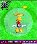 Rayman Golf J2ME If you get a bogey or better, Rayman does a little dance.