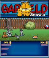 Garfield: Robocats from Outer Space! J2ME Fourth and final level: the resistance in the garden is quite fierce.