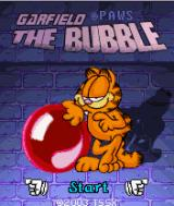 Garfield: The Bubble J2ME Title screen