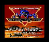 Steel Talons SNES Title screen.