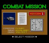 Steel Talons SNES Mission selection.