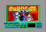 Robbbot Amstrad CPC Title Screen