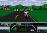 Road Rash II Genesis Winning a race