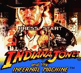 Indiana Jones and the Infernal Machine Game Boy Color Title Screen