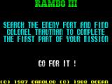 Rambo III ZX Spectrum Part 1 briefing