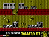 Rambo III ZX Spectrum The first screen of foes