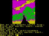 Return to Eden ZX Spectrum The sky illustrates the horror