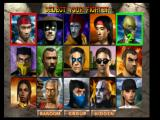 Mortal Kombat 4 PlayStation Character selection