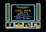 One Man and His Droid Atari 8-bit Intro and Title screen