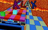 Klax DOS opening splash screen - VGA