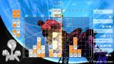 Lumines: Puzzle Fusion PSP Blue planet at «Shinin'» skin