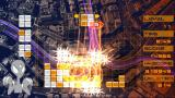 "Lumines: Puzzle Fusion PSP A lot of block removing at ""Round About"" skin"