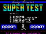 Daley Thompson's Super-Test ZX Spectrum Main menu
