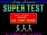Daley Thompson's Super-Test ZX Spectrum Pre-event screen