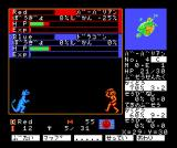 Master of Monsters MSX Fighting: blue dragon vs. red barbarian