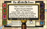 Sherlock Holmes: Consulting Detective DOS Searching for clues in the newspaper