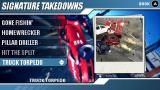Burnout Legends PSP Singnature Takedowns screen