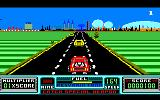 RoadBlasters Amstrad CPC Car approaching