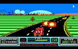 RoadBlasters Amstrad CPC Shot down two cars