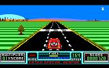RoadBlasters Amstrad CPC Approaching a checkpoint