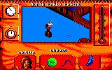 Indiana Jones and The Fate of Atlantis: The Action Game Amstrad CPC Sophia kicks someone in the nuts