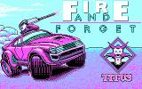 Fire and Forget DOS Title screen (CGA).