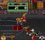 Looney Tunes B-Ball SNES Taz rampages across the court