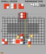 Lumines Mobile J2ME Puzzle mode: form a small cross as a combination to progress.