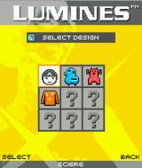 Lumines Mobile J2ME Avatar selection screen - not all of them are unlocked right away.