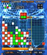 Lumines Mobile J2ME The next blocks are shown in the top left corner.