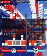 Lumines Mobile J2ME The first boss in a split-screen battle