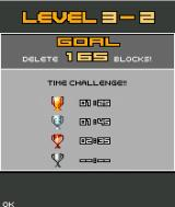 Lumines Mobile J2ME The time challenge screen before each arcade level