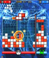 Lumines Mobile J2ME The second boss is about to be defeated.