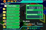 Mega Man Battle Network 6: Cybeast Gregar Game Boy Advance Pause menu