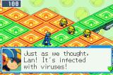 Mega Man Battle Network 6: Cybeast Gregar Game Boy Advance Mega Man prepares to fight