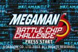 Mega Man Battle Chip Challenge Game Boy Advance Title Screen