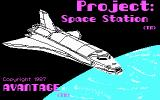 Project: Space Station DOS Title Screen (In All Its Four-color CGA Glory)