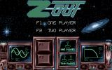 Z-Out Atari ST Main menu