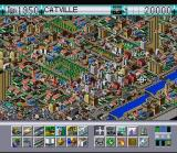 SimCity 2000 SNES An wide view of a developed city