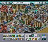 SimCity 2000 SNES Close-up view.  A church slipped into a game on a Nintendo system.