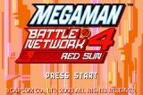 Mega Man Battle Network 4: Red Sun Game Boy Advance Title Screen