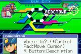 Mega Man Battle Network 4: Red Sun Game Boy Advance The City map
