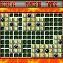 Bomb Squad ExEn Game main board. Let's find the bombs. Do not push a bombed cell or you will explose with it.