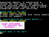 Jack the Ripper ZX Spectrum It's a note