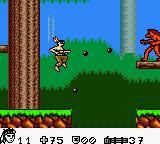 Turok 2: Seeds of Evil Game Boy Color I'd better shoot him before going over there. (Game Boy Color)